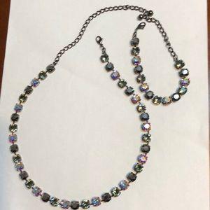 Swarovski crystal necklace and bracelet.